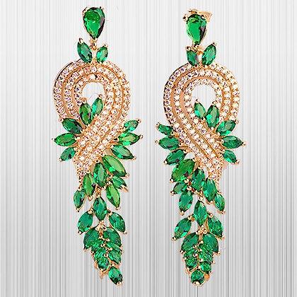 """Shakira"" - Garnet & Cubic Zirconia Earrings"