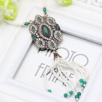 """Khatira"" - Royal Emerald Long Necklace"