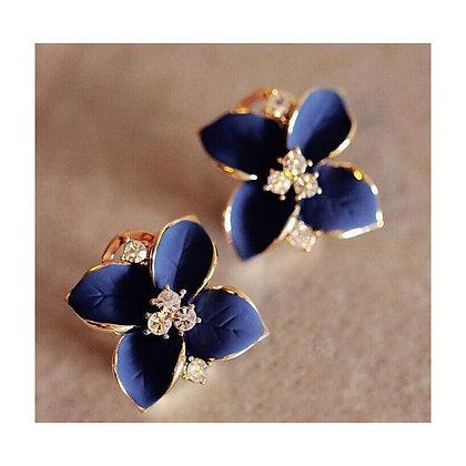 """""""Laila"""" - Blue Flower Earrings"""