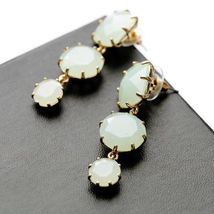 """Thana"" - Light Jade Earrings"