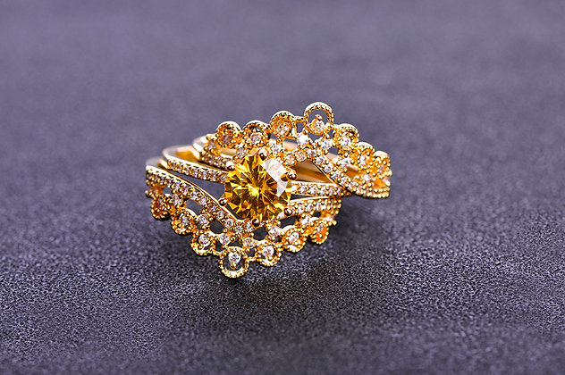 """Amal"" - Cubic Zirconia Stackable Rings"