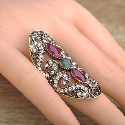 """Ashika"" - Multi Gem Statement Ring"