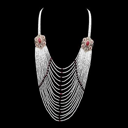 """""""Rani"""" - Ruby Multi Layered Necklace"""