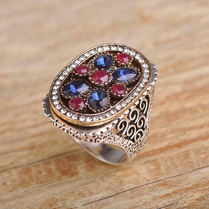 """""""Azminah"""" - Turkish Silver Statement Ring"""