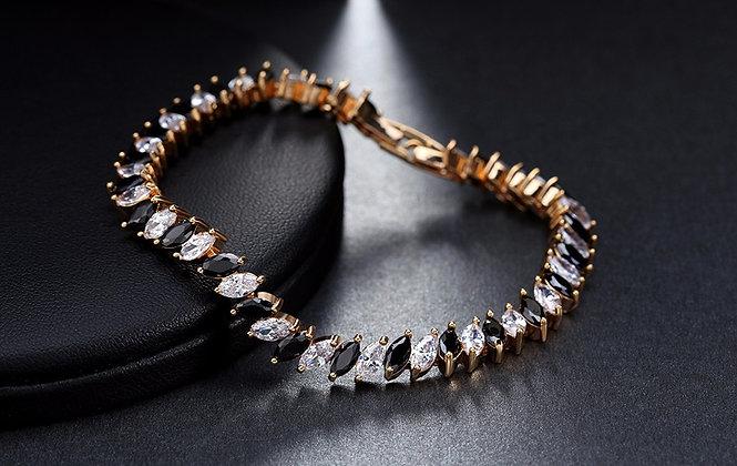 """""""Radwah"""" - Onyx Cubic Zirconia Bracelet"""