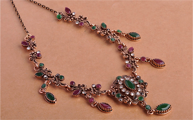 """Aziman"" - Tear Drop Lane Statement Necklace"