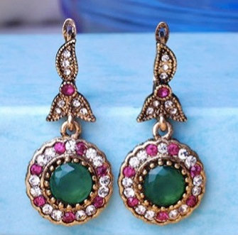 """Asna"" - Colorful Multi Gem Earrings"