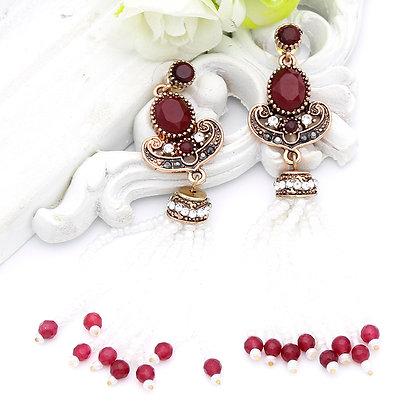 """""""Lamis"""" - Ruby Pearl Long Earrings"""