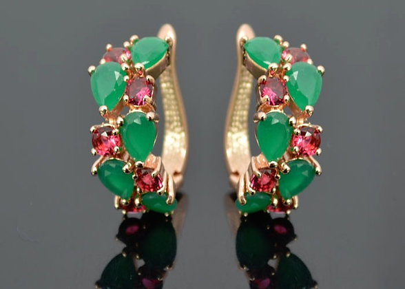 """Salena"" - Elegant Multi Gem Earrings"