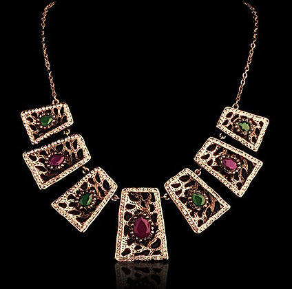 """Malika"" - Her Majesty Statement Necklace"
