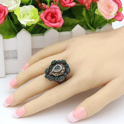 """Manal"" - Royal Emerald Ring"