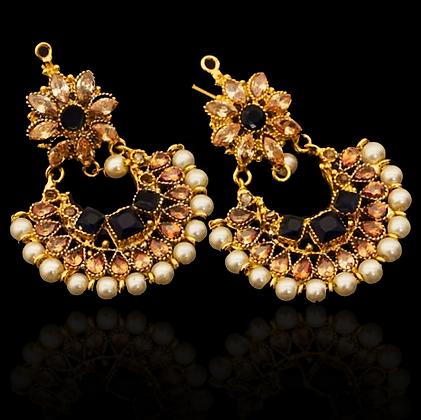 """Almaas"" - Flower Drop Earrings"