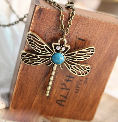 """""""Becca"""" - Dragonfly Long Necklace"""