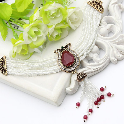 """Aleeah"" - Royal Red Bracelet"