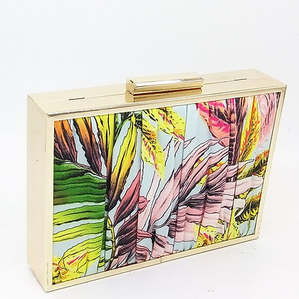 Pleated Tropical Clutch