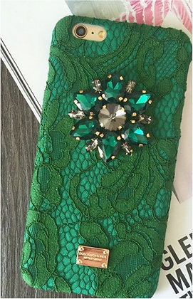 Dolce and Gabbana Inspired Emerald iPhone Case