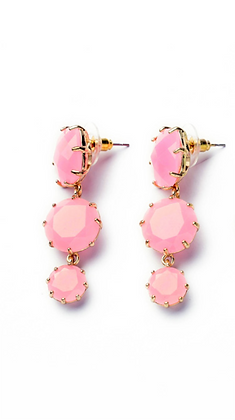 """Veeda"" - Pink Quartz Earrings"