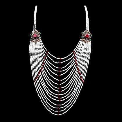 """""""Donya"""" - Ruby Multi Layered Necklace"""