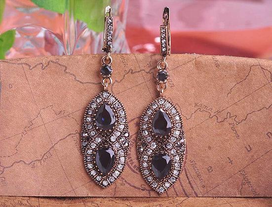 """Namir"" - Sapphire Statement Earrings"