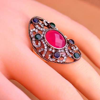 """Khoob"" - Turkish Gems Around Ruby Ring"