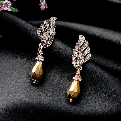 """Elanur"" - Gold Wings Earrings"