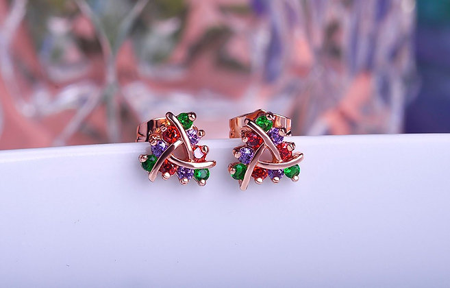 """Azee"" - Multi Gem Earrings"