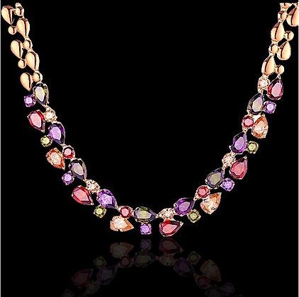 """Furat"" - Princess Gems Statement Necklace"
