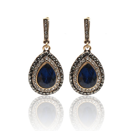 """Thiyya"" - Gorgeous Sapphire Drop  Earrings"