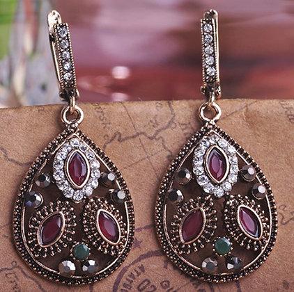 """""""Amel"""" - Pear Drop Turkish Earrings"""