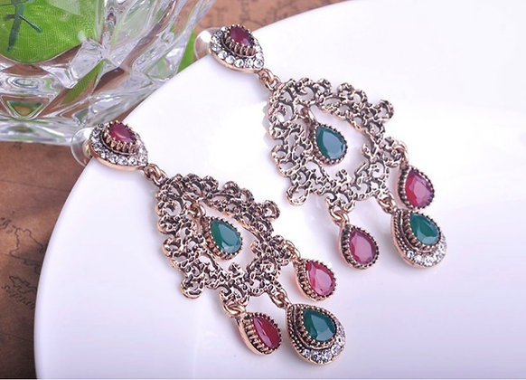 """Yusra"" - Classic Turkish Earrings"