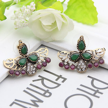 """Asili"" - Multi Gem 2-Way Stud Earrings"