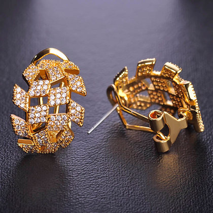 """Ahd"" - Cubic Zirconia Earrings"
