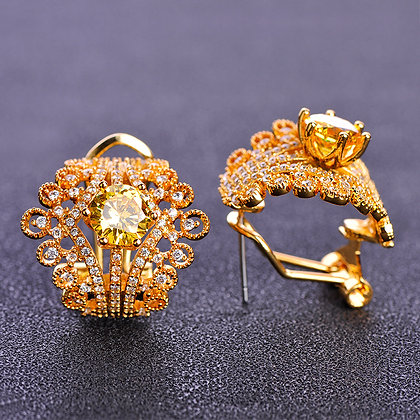 """Amal"" - Cubic Zirconia Earrings"