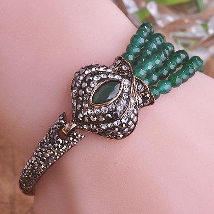 """""""Shama"""" - Royal Antique Emerald Bracelet"""
