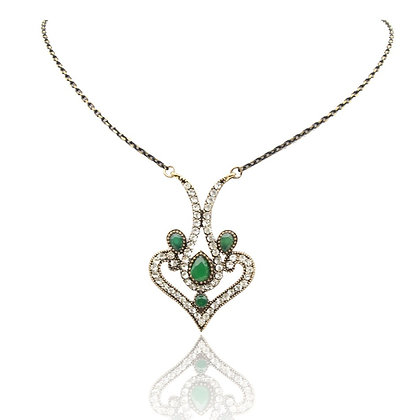 """Sami"" - Emerald Heart Necklace"