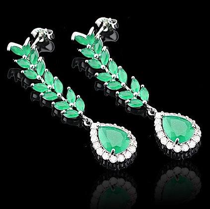 """""""Badiya"""" - Emerald Princess Earrings"""