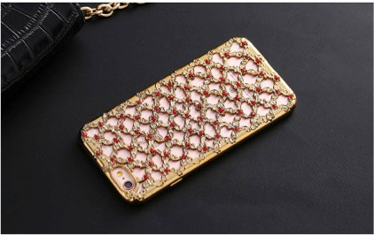 Criss Cross Ruby iPhone Case