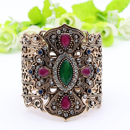 """Zaina"" - Turkish Opulence Cuff Bangle"