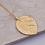 "Thumbnail: ""Lainey"" - Gold Leaf Long Necklace"