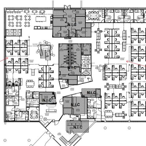 Open Office Furniture Plan