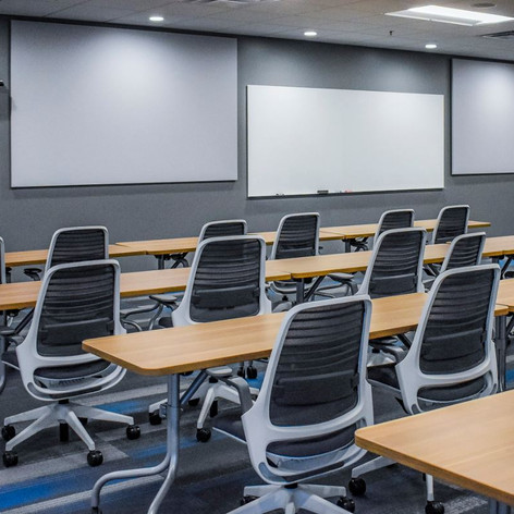 Corporate Training Room- Education takes place in a variety of settings.