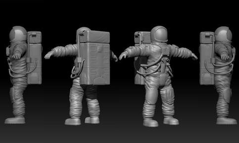 Astronaut_WIP_Zbrush