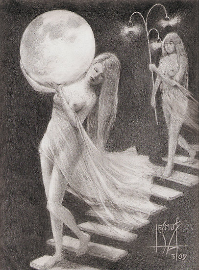"STUDY FOR ""LUNA DESCENDING"""