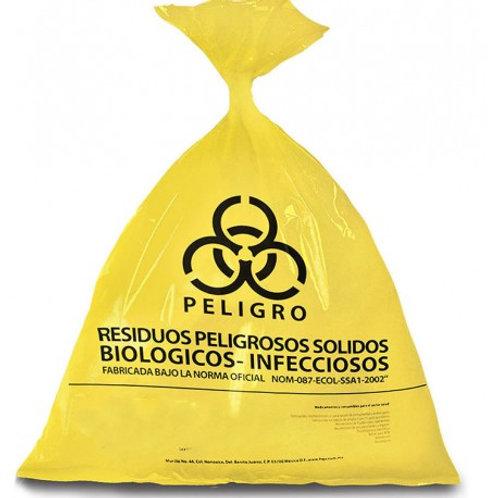 Bolsa amarilla de polietileno RPBI mediana