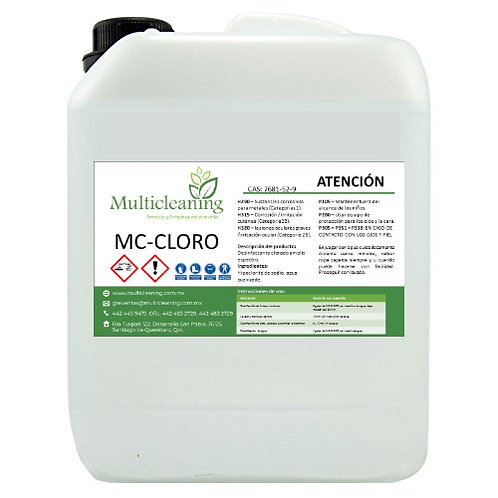 MC-CLORO 20 LITROS