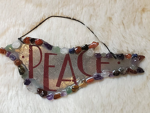 Peaceful Crystal Dove Shape Metal Holiday Ornament