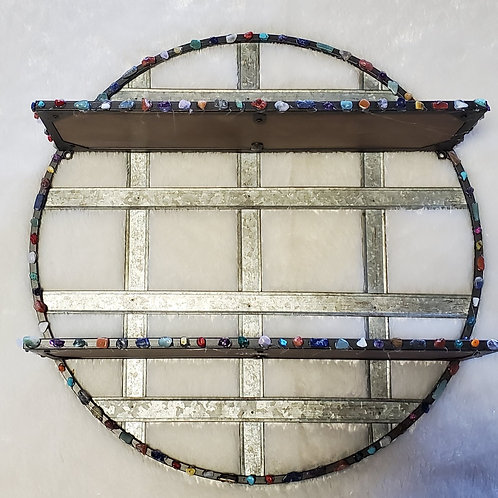 Gemstone Circle for Protection & Support Shelving Indoor/Out Wall Hanging