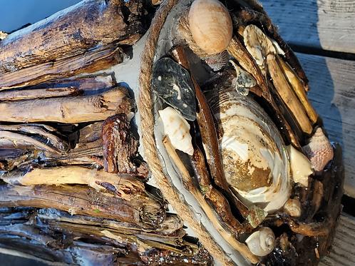 Driftwood Handmade Mailbox Sculpture