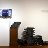 Books Arranged with Video, Installation View