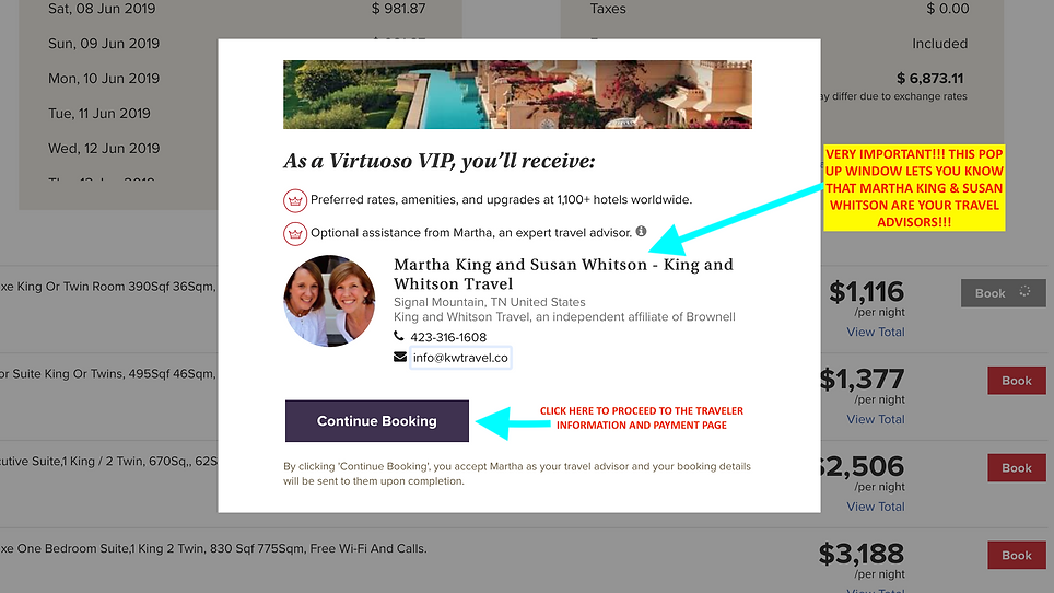 STEP 5- VIRTUOSO BOOKING TOOL- K & W PO